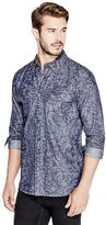 GUESS Batik Chambray Regular-Fit Shirt