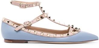 Valentino Rockstud cage ballerina shoes