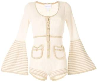 Alice McCall Heaven Help ribbed knit playsuit