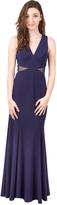 Decode 1.8 183615 V-neck Sheer Side Illusion Long Dress