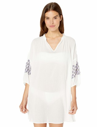 Seafolly Women's Embroidery Sleeve Dress Swimsuit Cover Up