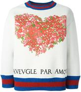 Gucci Web trim sweatshirt