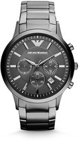 Emporio Armani Large Stainless Steel Chronograph Watch, Gray