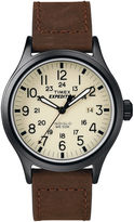 Timex Expedition Field Metal Elevated Mens Brown Leather Strap Watch T499639J
