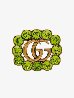 Gucci Double G embellished brooch