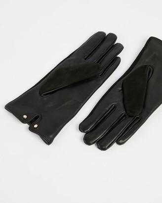 Ted Baker Suede Whipstitch Detail Glove