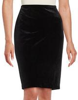 Calvin Klein Velvet Pencil Skirt