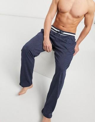 Greentreat lounge pants in navy stripe waistband