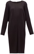 Pleats Please Issey Miyake Pleated Technical-jersey Midi Tunic Dress - Womens - Black
