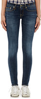 R 13 Women's Five-Pocket Skinny Jeans-BLUE