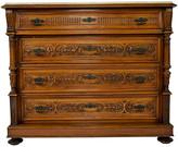 One Kings Lane Vintage Renaissance-style Chest of Drawers - Castle Antiques & Design - walnut/white