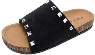 Wild Diva Women's Sandals BLACK - Black Studded Audrina Sandal - Women