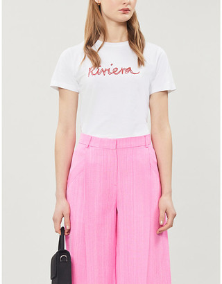 Bella Freud Riviera organic-cotton jersey T-shirt