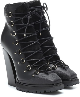 Jimmy Choo Madyn 130 leather ankle boots
