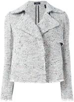 Theory open knitted jacket - women - Cotton/Acrylic/Polyester - L