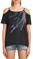 AllSaints Flight Tyra Cold-Shoulder Tee