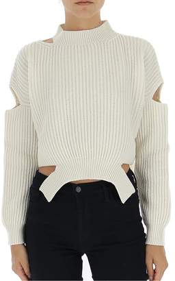 Pinko Cut-Out Cropped Sweater