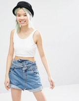 Monki Jersey Tank Crop Top
