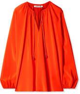 Elizabeth and James Chance Silk Blouse - Bright orange