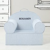 Large Personalized Blue Ticking Stripe Nod Chair