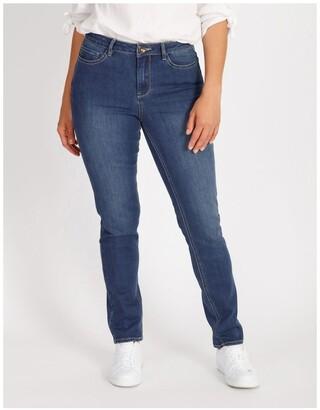 Regatta Essential Slim Jean In Mid Blue Mid