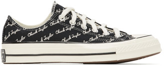 Converse Black and White Signature Chuck 70 Low Sneakers