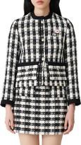 Maje Vicky Check Tweed Jacket