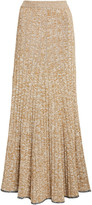 Joseph Sally Melange Ribbed-Knit Maxi Skirt