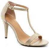 Calvin Klein Nasi Metallic Leather T-Strap Dress Sandals