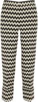Issa Blanche wool-blend jacquard straight-leg pants