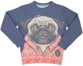 Madson Discount Pug Printed Cotton Blend Sweatshirt