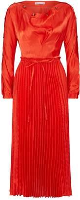 REJINA PYO Elise Pleated Skirt Long-Sleeve Dress