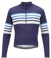 Café Du Cycliste Striped Long-sleeved Cycle Top - Mens - Blue Multi