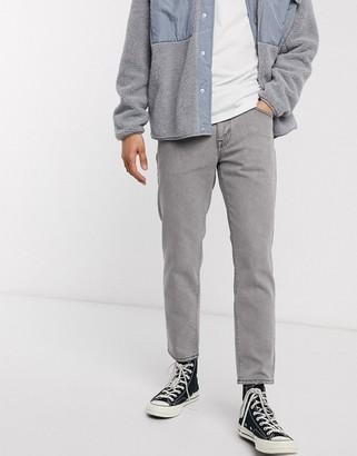 ASOS DESIGN classic rigid jeans in light gray