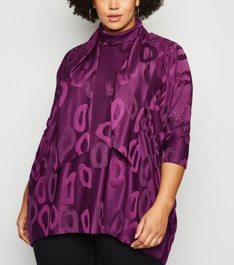 New Look Blue Vanilla Curves Tunic and Scarf Top