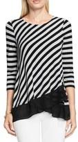 Vince Camuto Women's Chiffon Hem Stripe Top