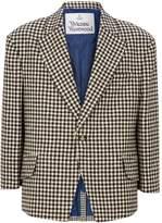Vivienne Westwood Wool Gingham Check Blazer