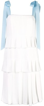 Carolina Herrera Three-Tiered Pleated Dress
