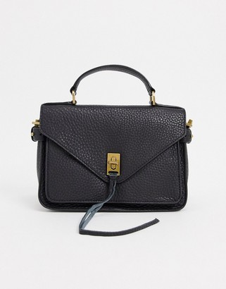Rebecca Minkoff darren small leather messenger bag in black