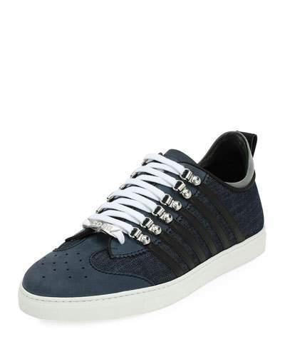 DSQUARED2 Denim-Panel Low-Top Sneaker