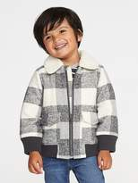 Old Navy Flannel Sherpa-Lined Bomber Jacket for Toddler Boys