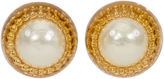 One Kings Lane Vintage 1970s Oversize Chanel Pearl Earrings