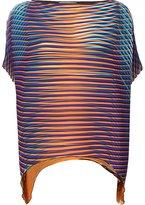 Issey Miyake printed tunic top - women - Polyester - 2