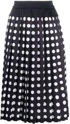 Black Comme Des Garçons x Nike polka-dot skirt