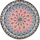 House of Fraser Plantation Rug Co. Nomadic 100% Wool Rug - 150cm Circle Pink/Black