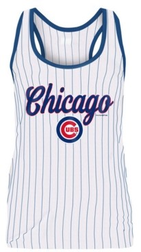 5th & Ocean Women's Chicago Cubs Pinstripe Tank