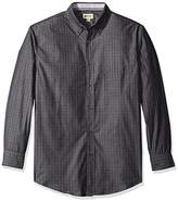 Haggar Men's Long Sleeve Mini-Windowpane Woven Shirt
