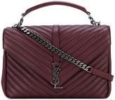 Saint Laurent Monogram College satchel bag - women - Leather - One Size