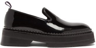 Eytys Baccarat Square-toe Patent-leather Loafers - Womens - Black