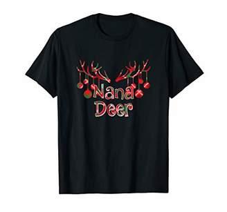 Buffalo David Bitton Red Plaid Nana Reindeer Deer Xmas Pajama T-Shirt